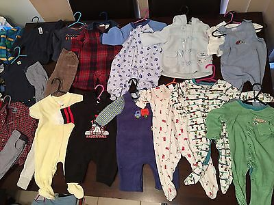 Baby Boys Size 3-6 Months Or 000-00 Clothes 20 Items Lot 5 Winter