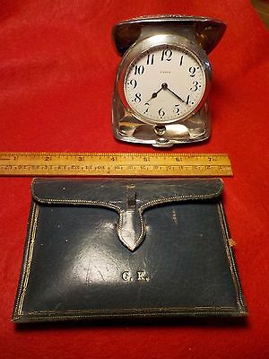 Tiffany, Sterling Silver, W. B. Kerr, Majestic Watch Co. 15 Jewel Travel Clock,