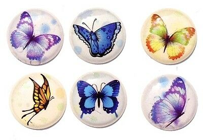 6pcs Home Button Sticker Decals Butterfly for iPhone 5/4/3 Apple
