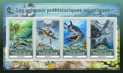 Z08 IMPERFORATED TG16616a TOGO 2016 Prehistoric water animals MNH Mint