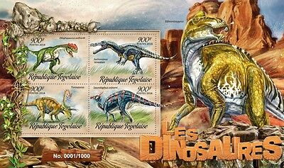 Z08 Imperforated TG16204a TOGO 2016 Dinosaurs MNH