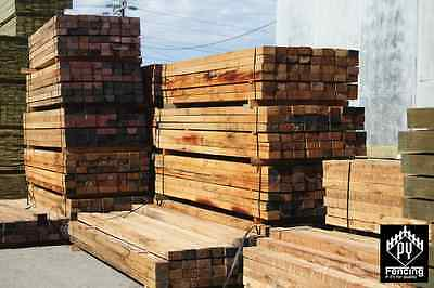 Mixed Hardwood Timber Fence Post/Posts/Poles 125x75mm for Fencing