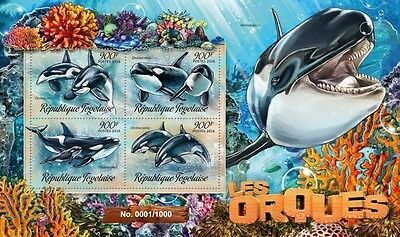Z08 Imperforated TG16214a TOGO 2016 Orcas MNH