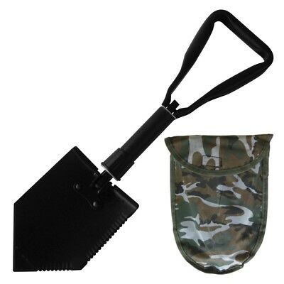 Black Folding Shovel With Camo Cover