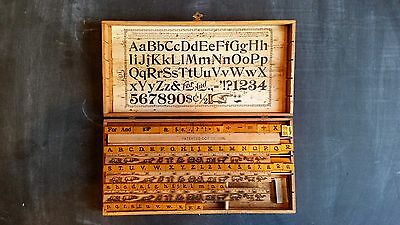 Antique Chart And Sign Marker Printing Rubber Stamp Set