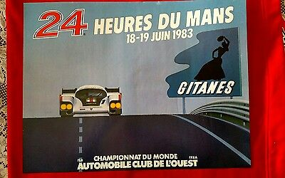 Vintage Original 1983 24 Hours of Le Mans Poster in French