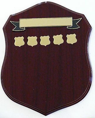 Perpetual Shield Trophy Plaque 340mm Timber Engraved FREE