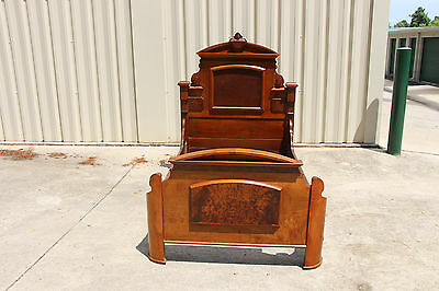 Charming Walnut Victorian Renaissance Revival Youth Bed ~ Ca.1870