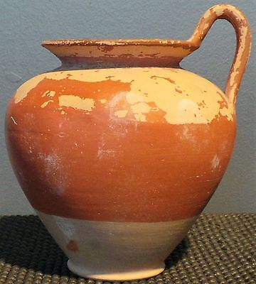 *ic* Lovely Slip Painted Greek Terracotta Handled Jug Circa 400-200 Bc