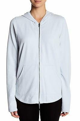 NWT PLUS SIZE 3X Yummie Tummie Hoodie by Heather Thompson Plein Air Light Blue