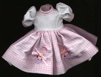 "Madame Alexander 8"" Doll Pink and White Dress"