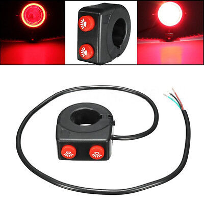 7/8'' Motorcycle Bicycle Handlebar On/Off Button Head Spot Fog Light Dual Switch
