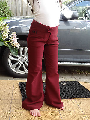 Girl  size stretch maroon pant for school uniform or casual size 4,6,8,10,14.