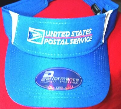 USPS Postal NEW ROYAL Two-Tone Visor Cap WITH 2 COLOR USPS Embroidered On Front