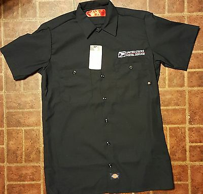 Embroidered Usps Postal Logo Dickies Short Sleeve Industrial Work Shirt S-3X