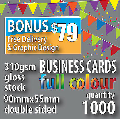 Business Cards 1000 Double Sided in Full Colour $79