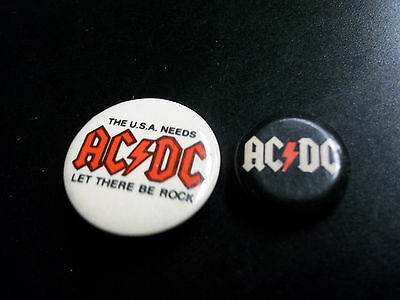 Ac/dc Pinbacks  The Usa Needs Ac/dc Let There Be Rock