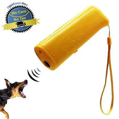 Dog Repeller Ultrasonic Aggressive Dog Deterrent w/ Flashlight Bark Pet Control