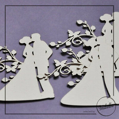 Wedding Couple Chipboard Shapes Card Making Papercraft Scrapbooking 3 Pack