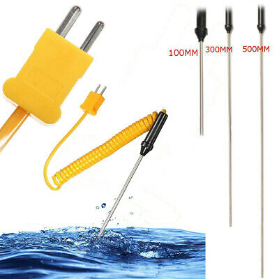 K-Type Thermocouple Stainless Steel Probe Temperature Controller Wire Sensors