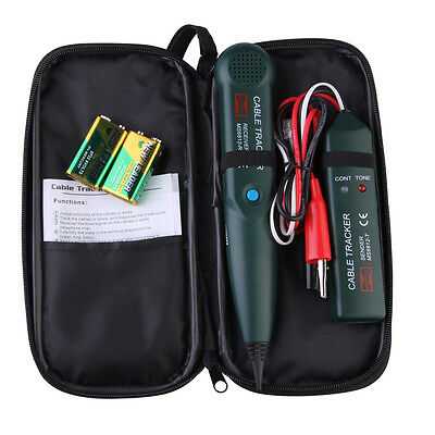 Telephone RJ11 Phone Cable Wire Line Tone Generator Probe Tracer Tracker Tester