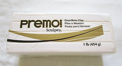 Sculpey PREMO - Polymer Clay - 454g LARGE BLOCK - WHITE