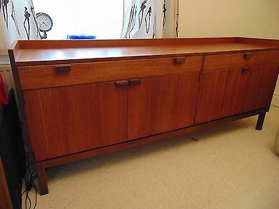 Mid Century SOLID WOOD Teak Sideboard Drawers 1960s