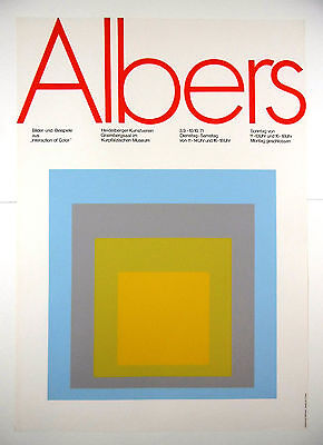 Ausstellungsplakat Albers Interaction of Color Heidelberg 1971