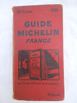 Guide Michelin France 25e année 1929