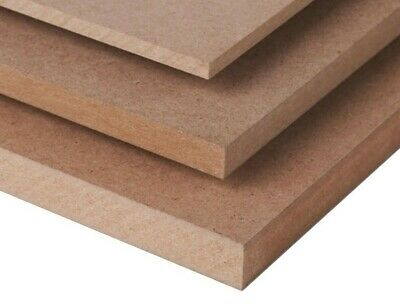 A4 MDF SHEETS BOARDS 297mm x 210mm VARIOUS THICKNESS MEDIUM DENSITY FIBREBOARD