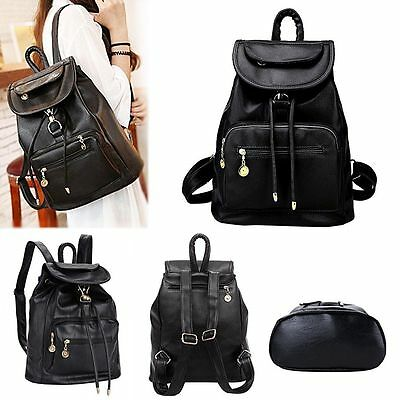 Lady Women Leather Backpack School Rucksack College Shoulder Satchel Travel Bag
