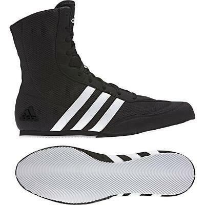 Adidas Boxing Kids Boys Box Hog 2 Boots Shoes - Black White