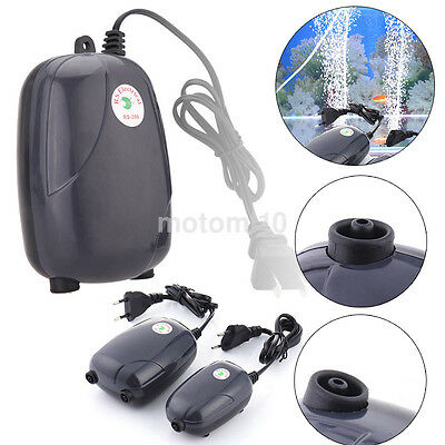 NEW US/EU Efficient Aquarium Fish Tank Pond Oxygen Air Pump Super Silent US