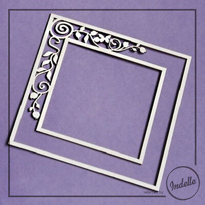 Square Frame Chipboard Shape Wedding Card Ornament Papercraft Scrapbooking