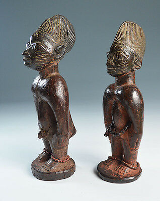 African Tribal very Good rare pair of Yoruba   Ibeji