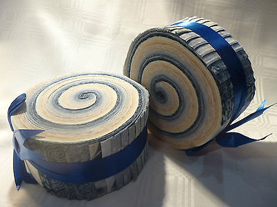 """Jelly Roll 40 X 2.5"""" strips - Quilting/Patchwork Batik Fabric"""