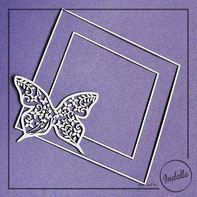 Square Frame Chipboard Shape Butterfly Wedding Card Making Ornament Papercraft