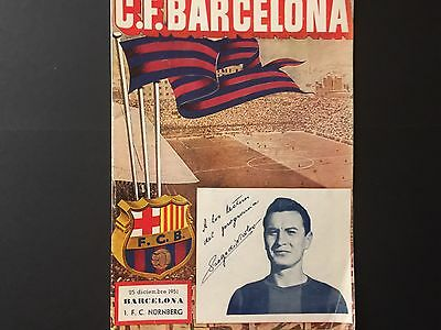1951 official programme.FC Barcelona, 0 - FC Nürnberg, 2. Friendly match