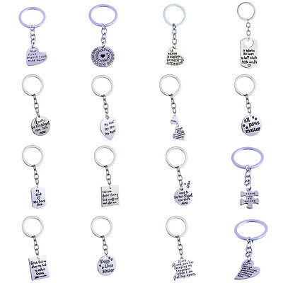 Heart Paw Pet Compass Sister Bone Keyring Keychain Charm Jewelry Girl Teacher