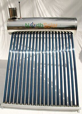Solar Hot Water System -Evacuated 200L wetback & booster. 2017 model North Solar