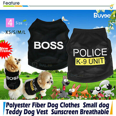 UK New Puppy Pet Dog Cat Vest Dress T SHIRT Coat Sweater Jacket Clothes Apparel