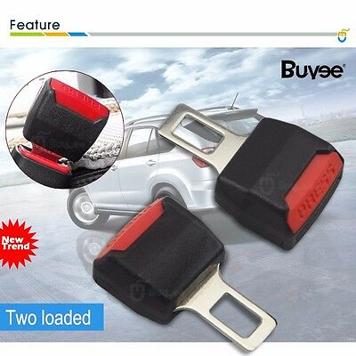 Universal Car Safety Seat Belt Extender Extension 2.1cm Buckle Lock CA Stock New