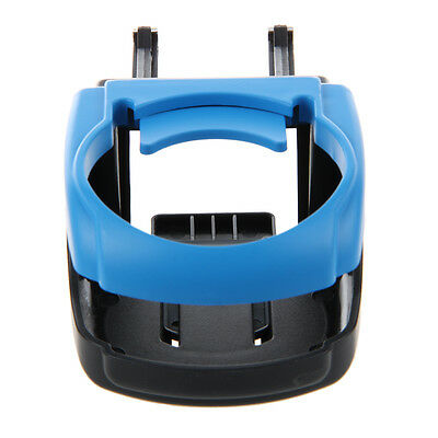 New Screw Mount Blue Plastic Foldable Car Truck Drink Cup Bottle Holder Stand BF