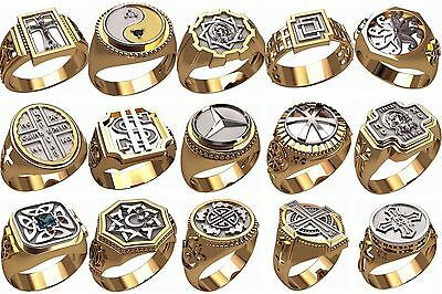 set of men's ring WAX PATTERNS (#m23) for Lost Wax Casting  Jewelry (15pcs)