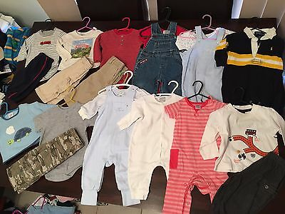 Baby Boys Size 6-12 Months Or 00-0 Clothes Winter 20 Items Lot 5