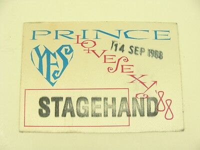 Prince - Lovesexy '88 Stagehand Pass Backstage 1988 Unused Bloomington Minnesota