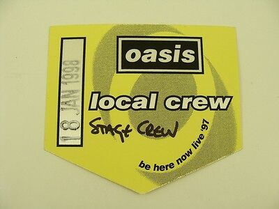 Oasis Local Crew Be Here Now Live '97 VIP Pass Backstage
