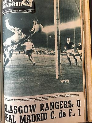 1963 EUROPEAN CUP Real Madrid v Glasgow Rangers ( 1st and 2nd leg)