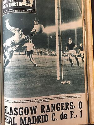 1963 European cup. Real Madrid v Glasgow Rangers ( 1st and 2nd leg).programme