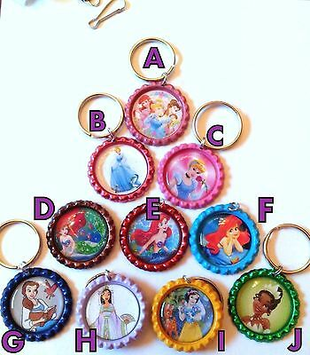 DISNEY Princesses Key Chains 12 styles - Handmade by US Seller FREE SHIPPING
